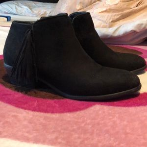 Wild Diva- Black Suede Ankle boots
